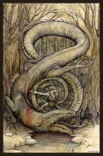 Sigurd uccide il drago Fafnir